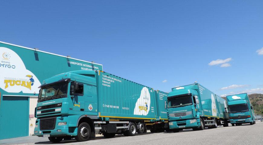 Camiones de mudanzas en Málaga